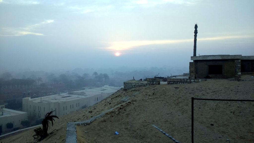 Sunrise over Saqqara